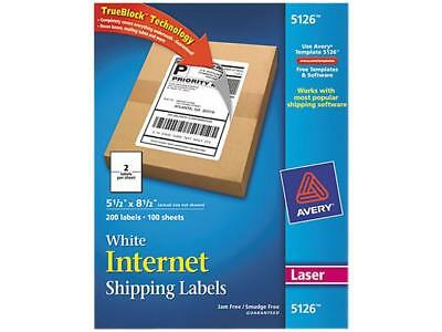 Shipping Labels With Block Technology Laser 5 12 X 8 12 White 200box