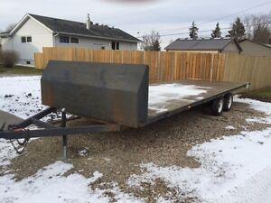 Home built snowmobile trailer