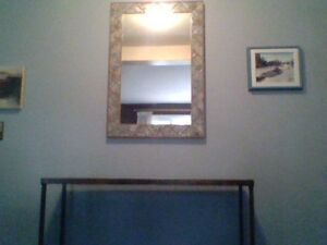 Mirror with matching sofa table