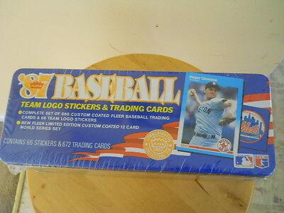 1987 Fleer Glossy Baseball Factory Sealed Tin Set   Barry Bonds   Bo Jackson