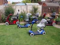 5 Mobility Scooters - Job Lot Heavy Duty And Portable - Pride Sterling Etc - All Only £600