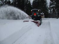 Snow removal with Tractor/Blower, West Riverview NB