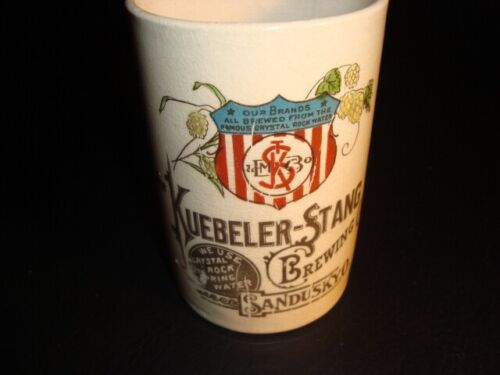Circa 1910 Kuebeler-Stang Ceramic Mug, Sandusky, Ohio
