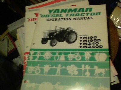 Yanmar Diesel Tractor Operation Manual Model Ym195 Ym195d Ym240 Ym240d