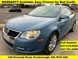 2008 Volkswagen Eos CONVERTIBLE FINANCE WARRANTY AVAILABLE 92km