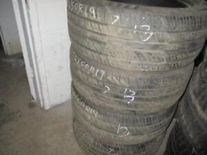 255/50R19 SET OF 4 MATCHING USED EVERGREEN A/S PERFORMANCE TIRES