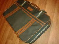 Large green courier travel bag