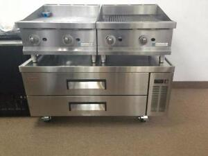 REFRIGERATED CHEF BASE (5 YEAR COMPRESSOR WARRANTY = REAL QUALITY), COLD EQUIPMENT STAND / TABLE WITH FRIDGE DRAWERS
