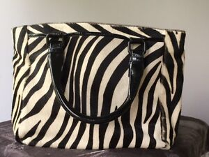 Club Monaco ponyhair zebra striped bag