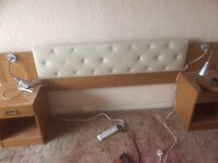 Double headboard and bedside table units