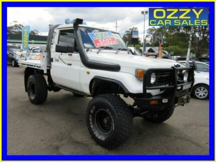 1995 Toyota Landcruiser HZJ75RP (4x4) White 5 Speed Manual 4x4 Cab Chassis Penrith Penrith Area Preview