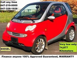 2005 Smart Fortwo Auto DIESEL FINANCE Anyone WARRANTY 74,877 KM