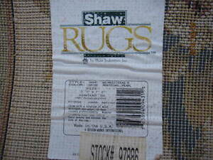 Shaw Rug  93 in. x 65 in