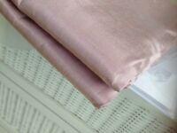 Pink faux silk m&s curtains ,excellent condition