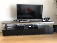 Dwell floating shelf tv stand in black. Dimensions 45 x 45 x 180cm. Used but in new condition.