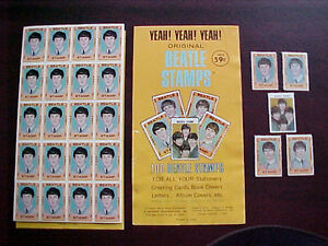 1964 THE BEATLE'S STAMP SET of 5 singles