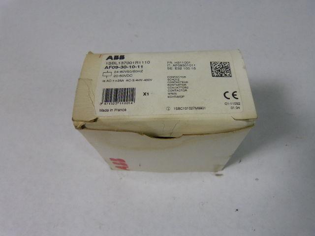 Asea Brown Boveri AF09-30-10-11 Contactor 24-60V 50/60Hz 20-60VDC   NEW