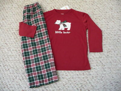 NEW Gymboree Boys Girls Little Bear Holiday Christmas pajamas pj's 12-18 mo NWT - Little Boys Christmas Pajamas