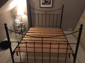 Bed frme - standard double. In good condition