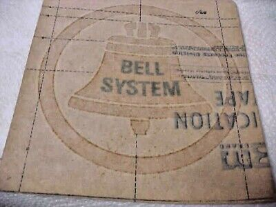 1969 BELL SYSTEM IRON ON TRANSFER CLEAN LOOK UNUSED