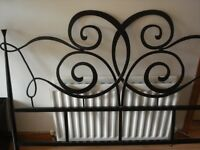 Wrought iron black bed frame modern style great condition.