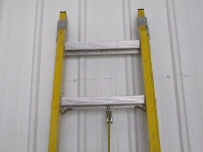 20 Ft Ext. Ladder Fiberglassalum 1a 300lbs Used