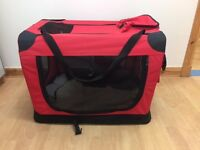 Folding Crate by petplanet Small Red Water-resistant Durable Material