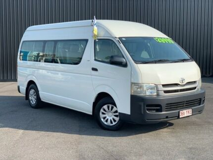 2008 Toyota Hiace KDH223R MY08 Commuter High Roof Super LWB White 5 Speed Manual Bus Bungalow Cairns City Preview