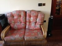 2 seater rattan conservatory style sofa in great condition