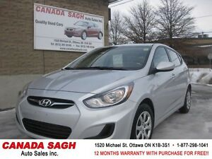 2014 HYUNDAI ACCENT HB ,LOADED AUTO, 12M.WRTY+SAFETY $8990