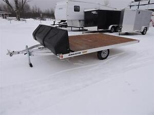 Snowmobile 101'' X 12'  and 101'' X10' flat bed Trailer