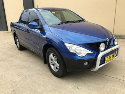 2007 Ssangyong Actyon Sports 100 Series Sports Limited Utility Dual Cab 4dr Man 5sp 4x4 8 Blue