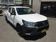2017 Toyota Hilux TGN121R Workmate White 6 Speed Automatic Dual Cab Utility North Strathfield Canada Bay Area Preview