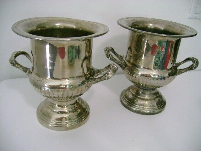Two Horse Trophies - Silver plate wine coolers - Engraved