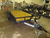 77'' X 16' LAMAR UTILTY WITH 2-3500 LB AXLES - SIDES & RAMPS
