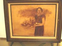 Vintage Signed by Emily Yorath, Oil on Canvas Painting