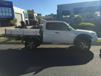 2008 Ford Ranger PJ XLT Crew Cab White 5 Speed Manual Utility Burleigh Waters Gold Coast South Preview