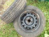 Snow Tires 4 Honda Civic almost new