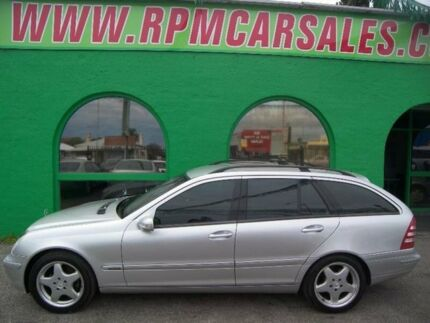 2003 Mercedes-Benz C200 Kompressor S203 MY2003 Elegance Zircon Silver 5 Speed Sports Automatic Wagon Nailsworth Prospect Area Preview
