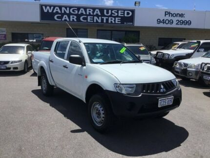 2009 Mitsubishi Triton MN MY10 GLX Solid White 4 Speed Automatic Double Cab Utility Wangara Wanneroo Area Preview