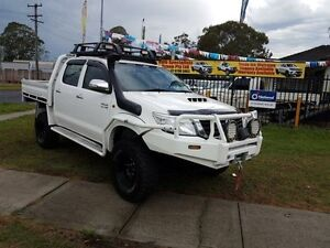 2012 Toyota Hilux KUN26R MY12 SR White 5 Speed Manual 4D CAB CHASSIS Ingleburn Campbelltown Area Preview