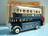 Lledo Promo Model AEC Regent D/D Bus Ryde Rail Festival Isle of Wight 1986 Gold Letter Version