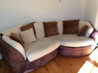 Light Brown/Cream Sofa for Sale