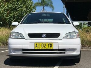 2001 Holden Astra TS City White 4 Speed Automatic Hatchback