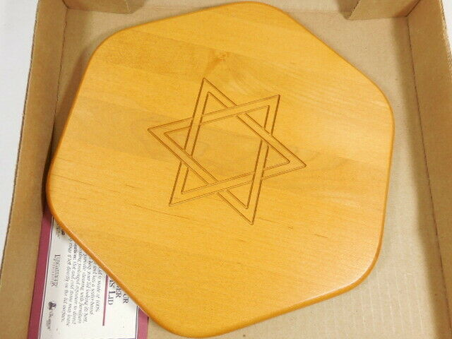 Longaberger Woodcrafts Lid Only for Star of David 50539 C3