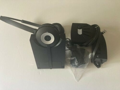Jabra Pro 920 Duo Wireless Headset W/ Lifter WHB003HS (headset), WHB003BS (base
