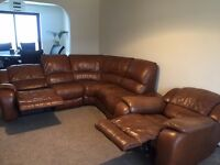 Corner 2 electric double reclinersofa