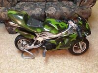 Mini Pocket Bike 50cc with stand (camouflage color)