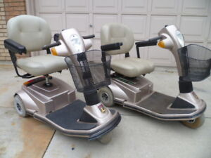 2- MOBILITY SCOOTERS - IDENTICAL PAIR