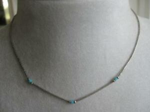 EXTREMELY FINE SILVER / TURQUOISE 14-in. NECK-HUGGER NECKLACE